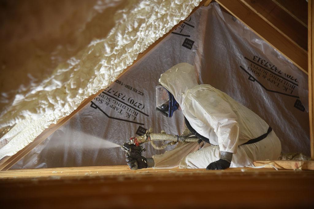 Foam Insulation Install Attic -Builders' Insulation